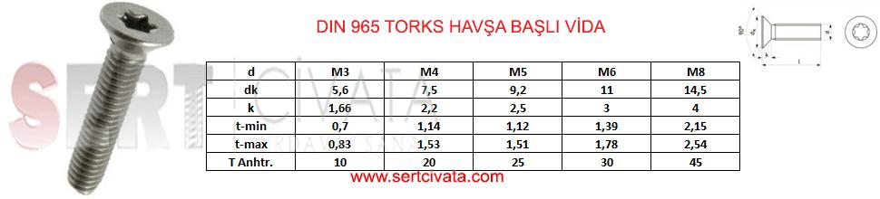 DIN_965_Torks_Havsa_Basli_Vida_Torx_Sert-Civata-Basaksehir-ikitelli-İmalat-toptan-Celik-Metal-Kaliteli-Perakende-Ucuz-Istanbul-Turkiye