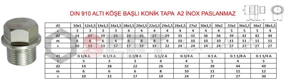 dın-910-Altıköse-Basli-Konik-Tapa-a2-inox-paslanmaz-sert-civata-başakşehir-istanbul-ucuz