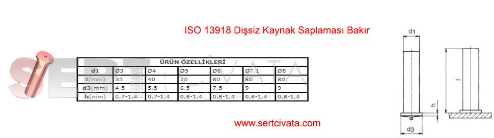 iso-13918-Dissiz-Kaynak-Saplamasi-Bakir-Paslanmaz-Alüminyum-Sert-Civata-Basaksehir-ikitelli-İmalat-toptan-Celik-Metal-Kaliteli-Perakende-Ucuz-Istanbul-Turkiye