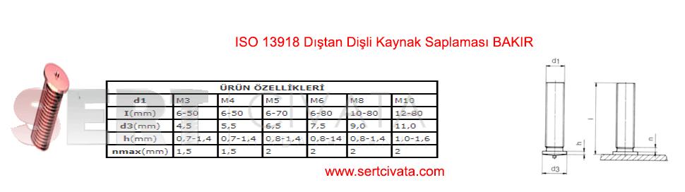 iso-13918-Distan-Disli-Kaynak-Saplamasi-Bakir-Sert-Civata-Basaksehir-ikitelli-İmalat-toptan-Celik-Metal-Kaliteli-Perakende-Ucuz-Istanbul-Turkiye
