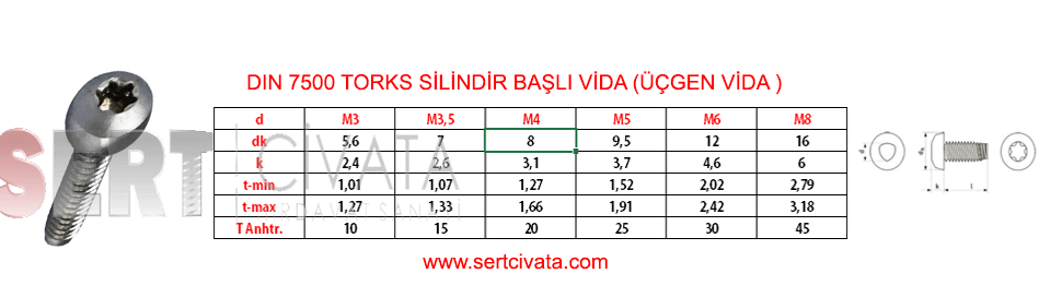 torx-din-7500-c-torks-silindir-basli-spiral-form-ucgen-vida-kitelli-Sert-Civata-Basaksehir-İmalat-toptan-Celik-Metal-Kaliteli-Perakende-Ucuz-Istanbul-Turkiye